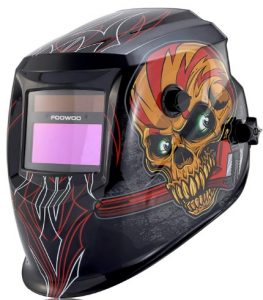 FOOWOO Solar Powered Welding Helmet Auto Darkening Hood